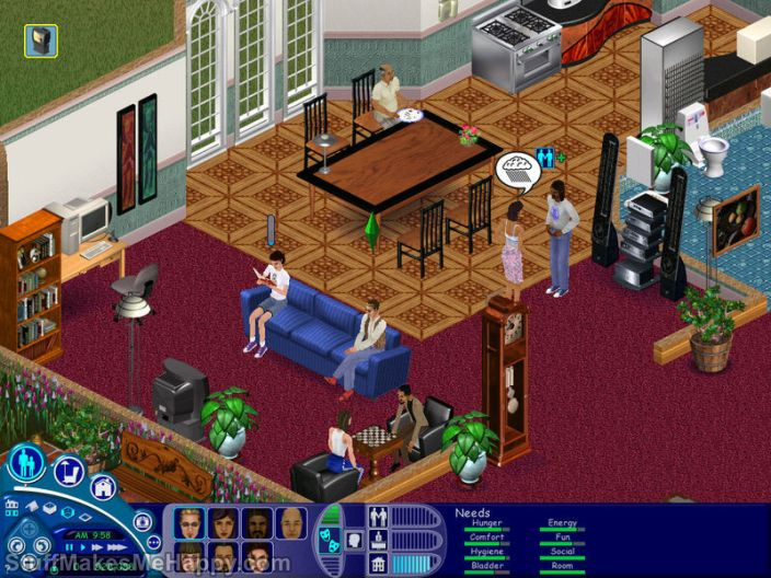 7. The Sims (2000) and The Sims 4 (2014)