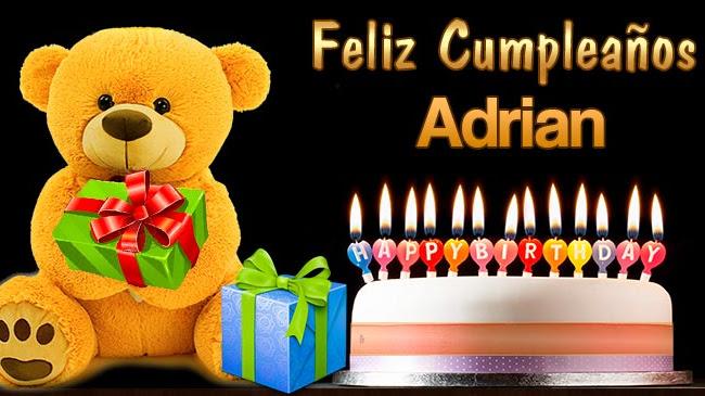 Feliz Cumpleaños Adrian