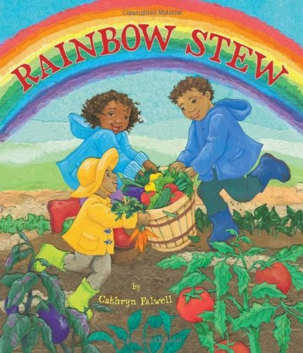 Rainbow Stew by Cathryn Falwell, part of book review list about colors and rainbows