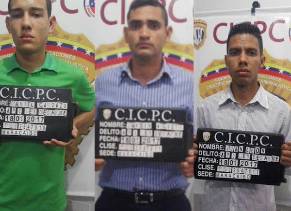 Detectives del CICPC detenidos por robar una escuela en el Zulia