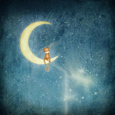 por Maja Lindberg | ilustraciones imaginativas, infantiles, tristes, sentimientos y emociones, hermosos, imagenes bonitas, illustration art, cool stuff, moon.