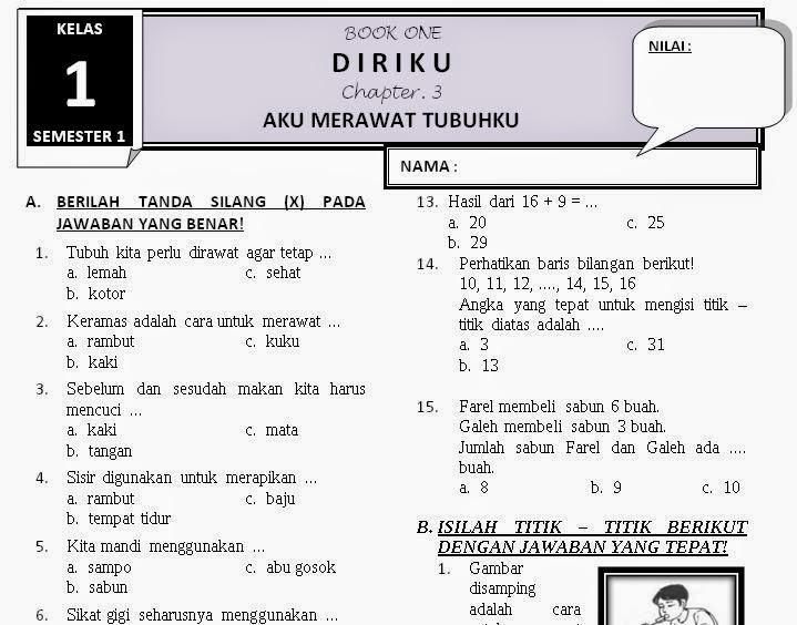 Download Contoh Soal Sd Kelas 1 Setiopolisonweb