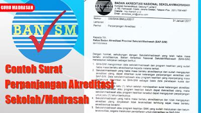 Surat Pengajuan Permohonan Perpanjangan Akreditasi Sekolah/Madrasah