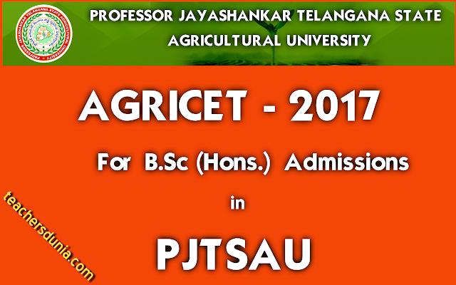 PJTSAU-AGRICET-2017-Notification