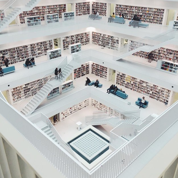 17 Real Places That Are Probably Portals To The Wizarding World - Stadtbibliothek Stuttgart in Stuttgart, Germany