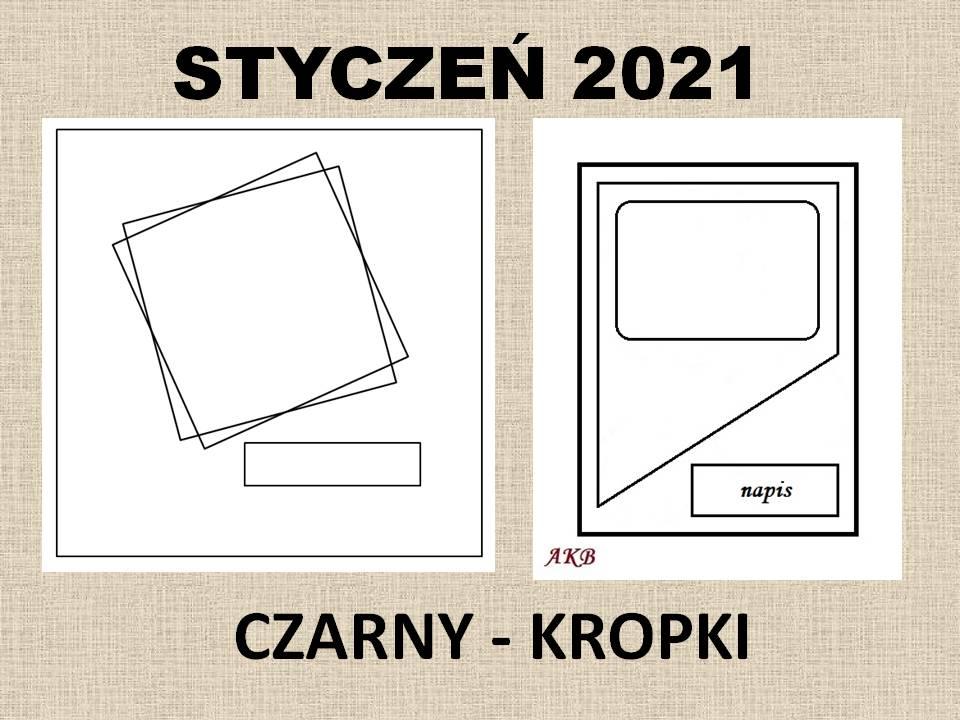 Kartki wg mapki - styczeń 2021