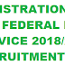 REGISTRATION FOR FEDERAL FIRE SERVICE 2018/2019 RECRUITMENT NIGERIA