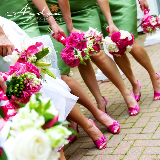 Emerald Green And Pink Ideas