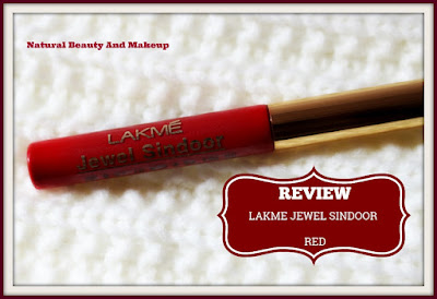 Lakme Jewel (Liquid) Sindoor in Red Shade Review, swatch and FOTD