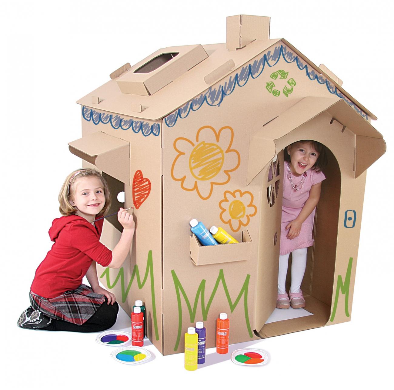 Maison en carton enfant avie home - Maison carton enfant ...