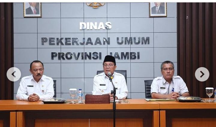 Dinas PUPR Jambi Siapkan Dana 600 Juta Jalan Aspal Karet.