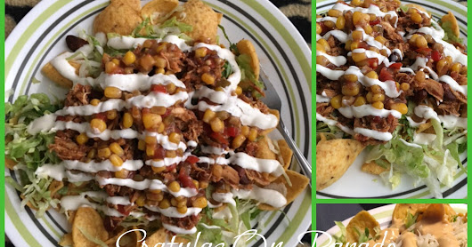 Southwest Chicken Chili Frito Nacho Salad and Funny Friday