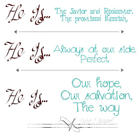 He is the Savior and Redeemer, the promised Messiah Christmas Printable square