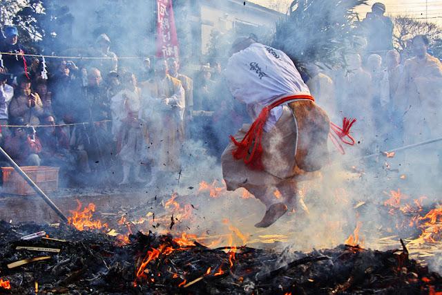 Hibuse-Matsuri (Fire Festival) at Manpukuji Temple, Odawara City, Kanagawa