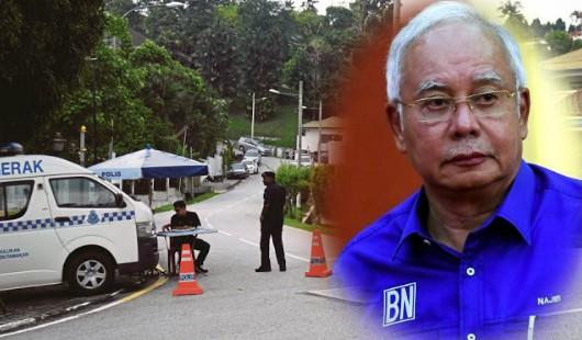 Kediaman peribadi Najib dikawal polis