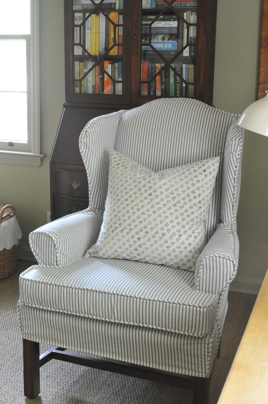 Fabrics For Chairs Striped Rp Module Chair Nine 43 Sixteen Ticking 101 My Favorite Blue