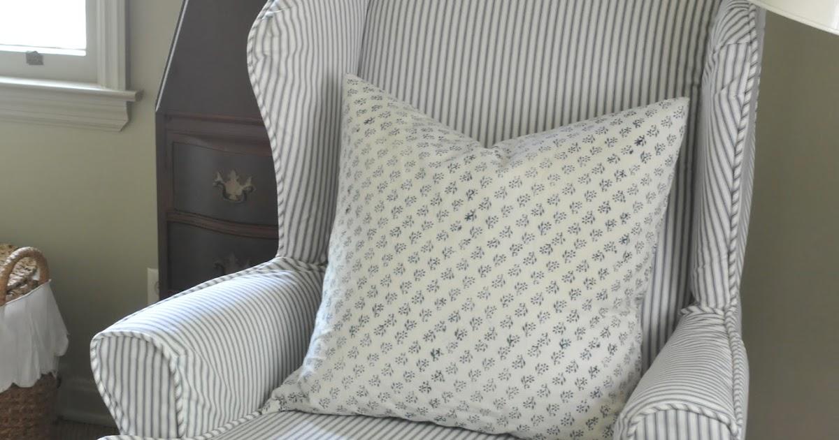 wingback office desk chair garden covers homebase nine + sixteen: ticking 101 | my favorite blue fabrics