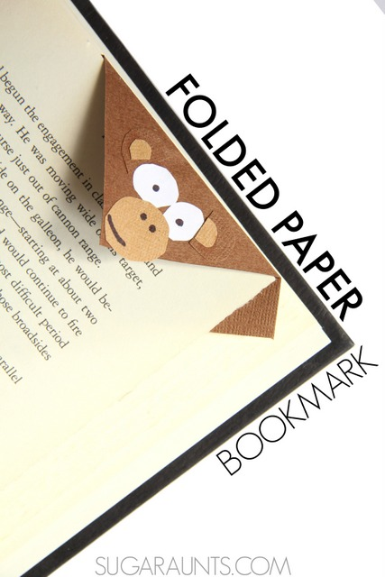 Monkey bookmark craft