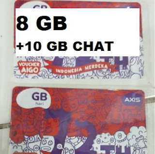 Voucher Axis 8GB + 10 GB