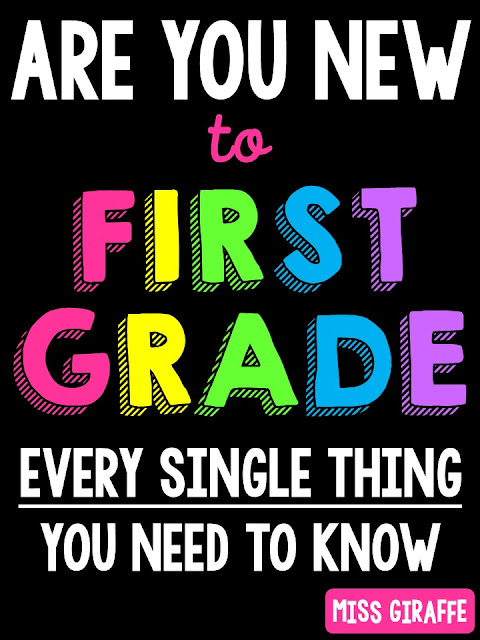 New to Teaching First Grade Teacher Tips Galore!!!! This post goes over every single thing a new first grade teacher would want to know - from how to teach math broken down into how to teach math small groups, whole group, practice work, assessment, order, pacing to how to do your bulletin boards to even how to teach reading and differentiate - this covers it all!