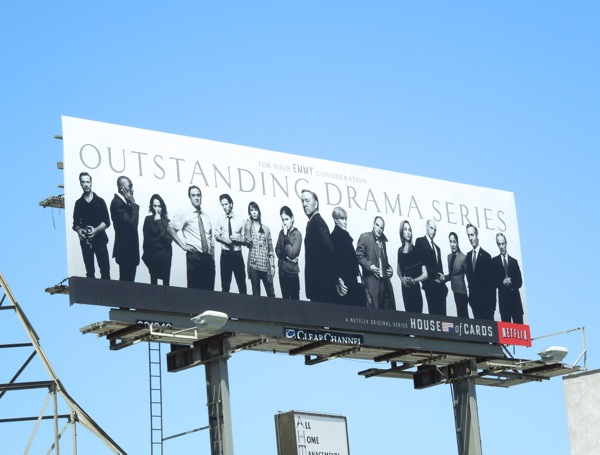 House of Cards Netflix Emmy 2013 billboard