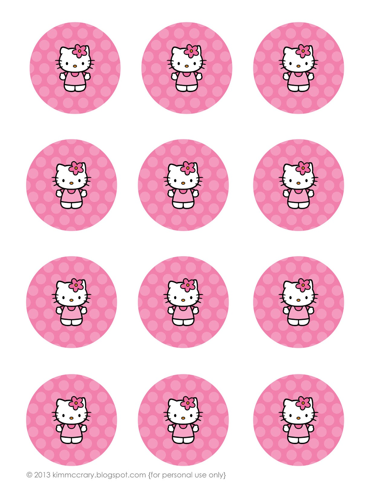 hello kitty cupcake topper template - all things simple simple celebrations hello kitty party