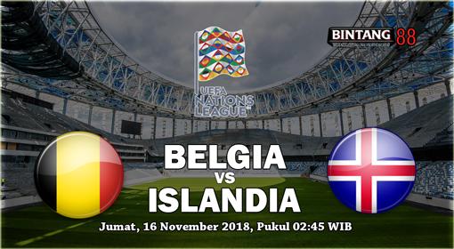 Prediksi Belgia vs Islandia 16 November 2018