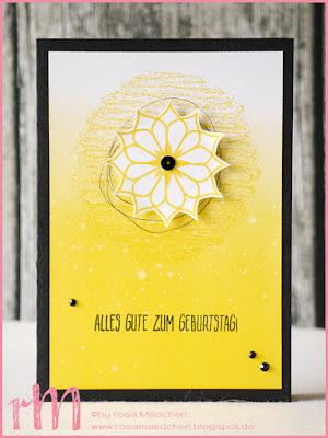 Stampin' Up! rosa Mädchen Kulmbach: Geburtstagskarte mit Schönheit des Orients
