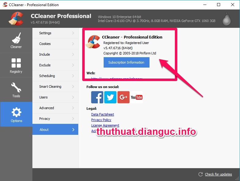 Download CCleaner v5.47.6716 Full Key miễn phí mới nhất