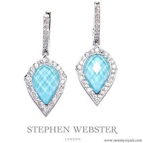 Queen Rania Stephen Webster Haze Turquoise Earrings