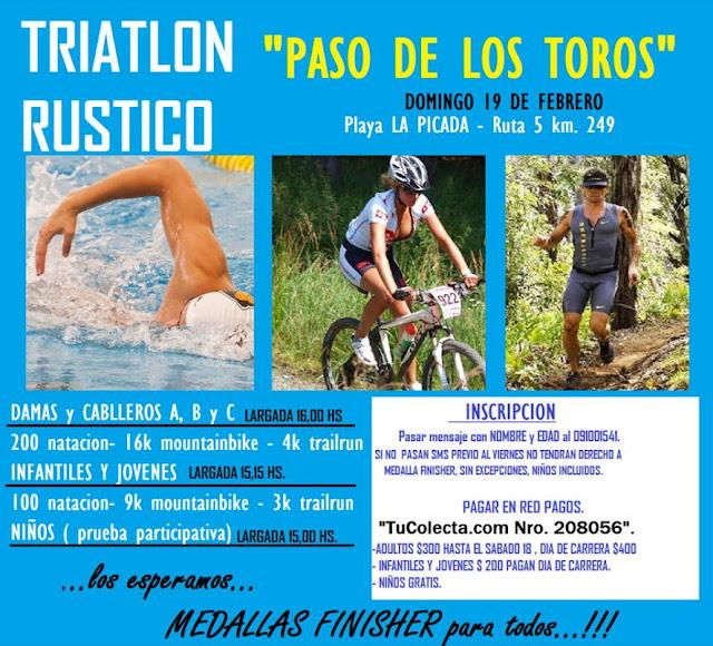 Triatlón rústico en Paso de los toros (Tacuarembó, 19/feb/2017)