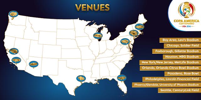 Copa America USA 2016 Venues