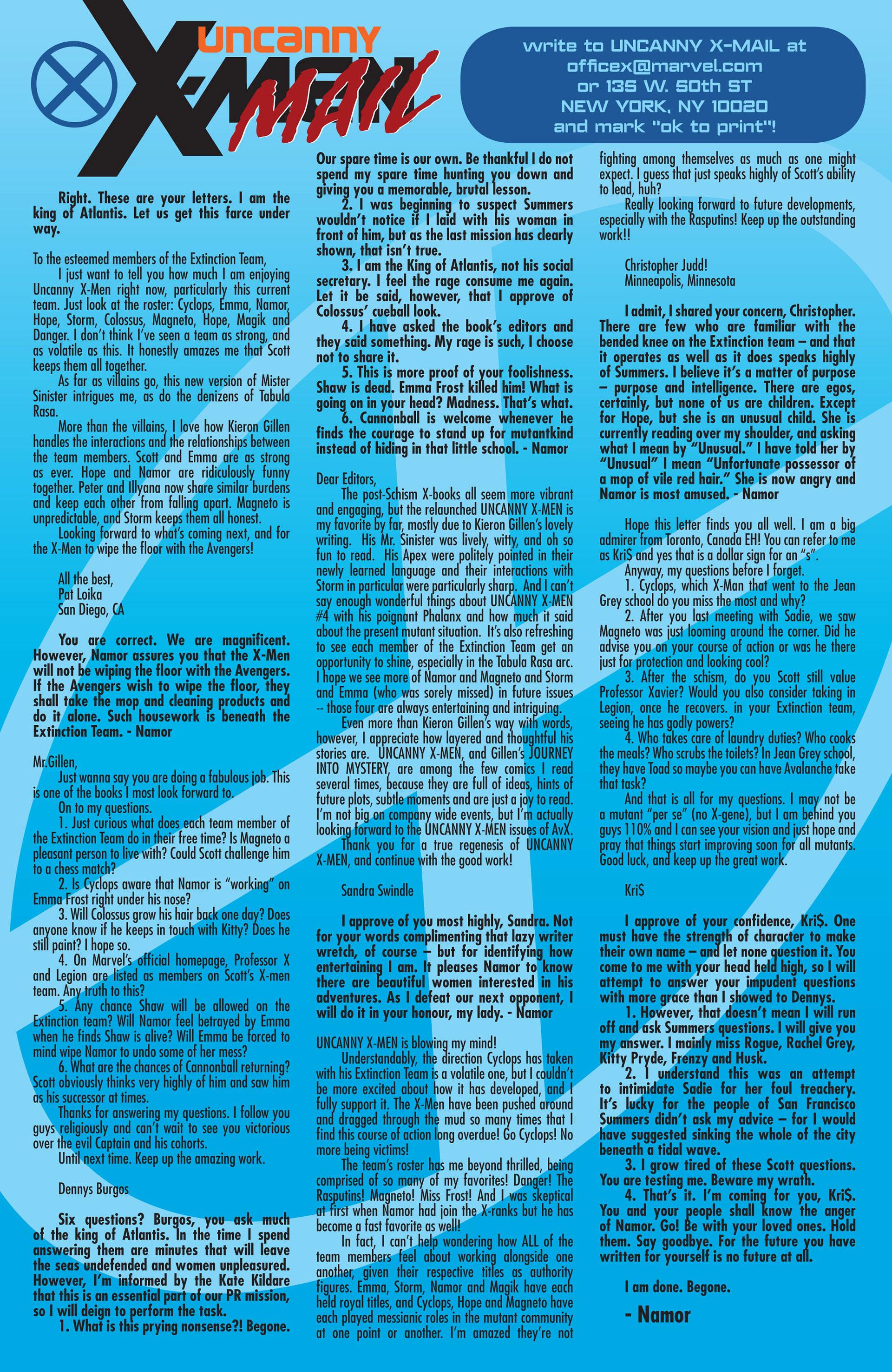 Read online Uncanny X-Men (2012) comic -  Issue #10 - 23