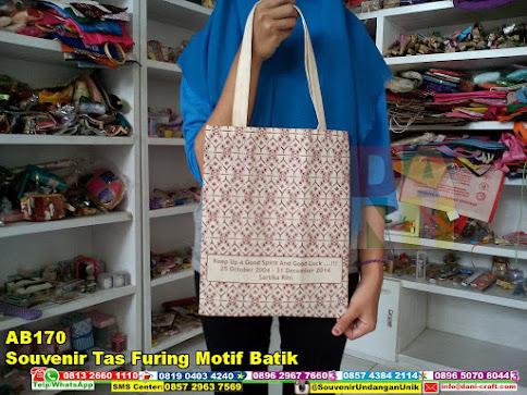 jual Souvenir Tas Furing Motif Batik