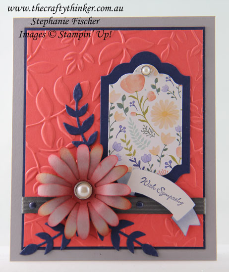 #stampinup, #cardmaking, Sympathy Card, Daisy Punch, #thecraftythinker, Stampin Up Australia Demonstrator, Sydney NSW