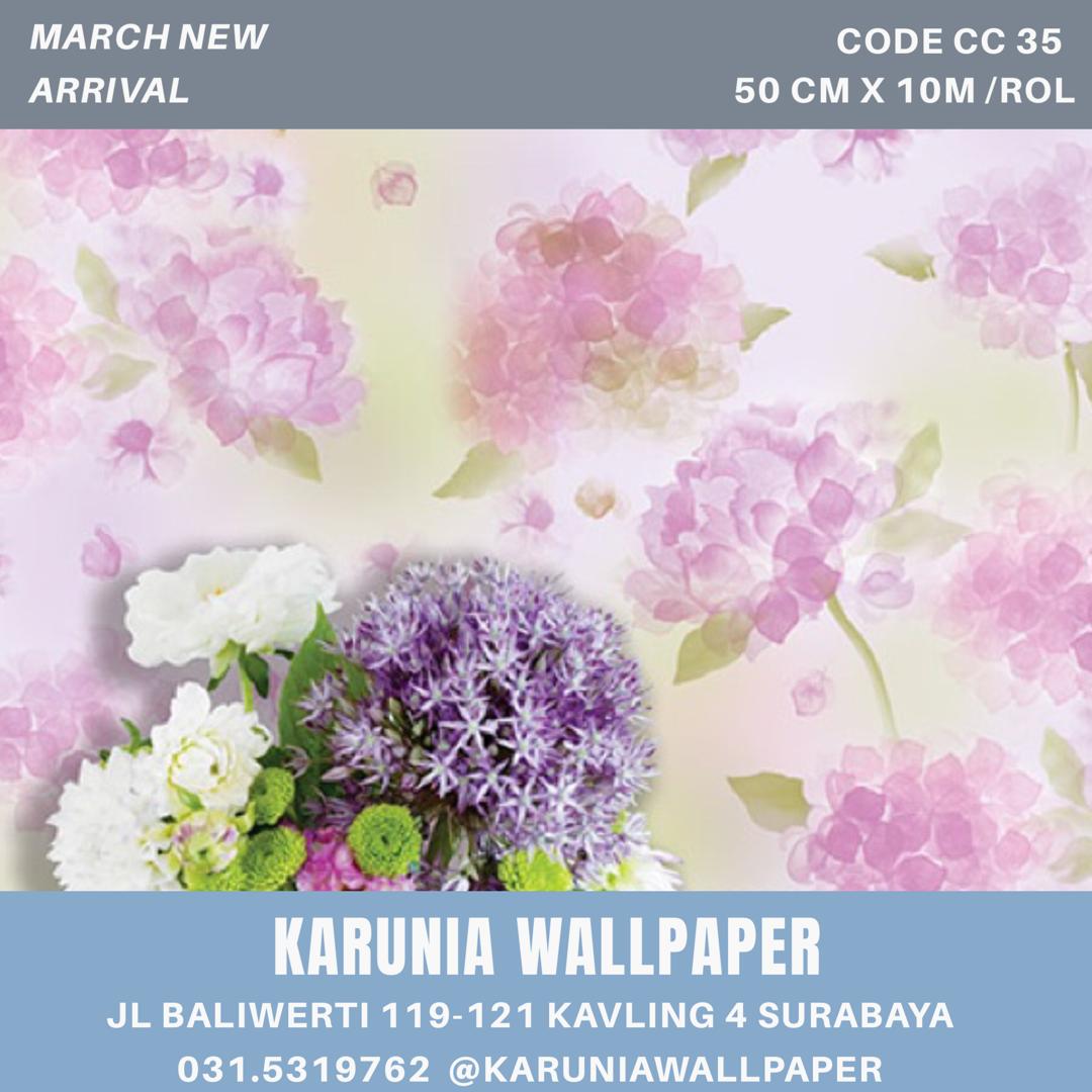 jual dinding wallpaper bunga surabaya