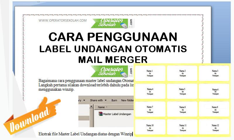 Aplikasi Pembuat Label Undangan Orang Tua Siswa (Acara Kelulusan) dengan Cepat - Mail Merger Terbaru