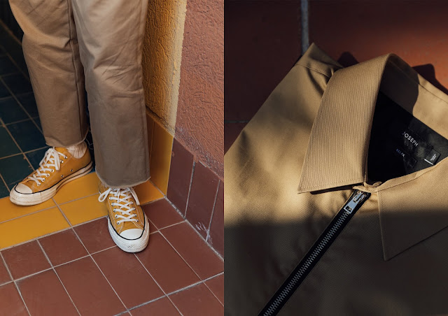 cornflower yellow converse 70s worn with cuff off beige arket work chinos at walden7 in barcelona