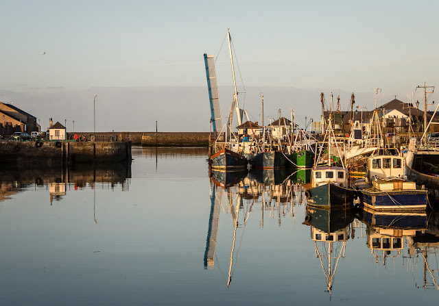 Photo of fishing boats in Maryport Harbour