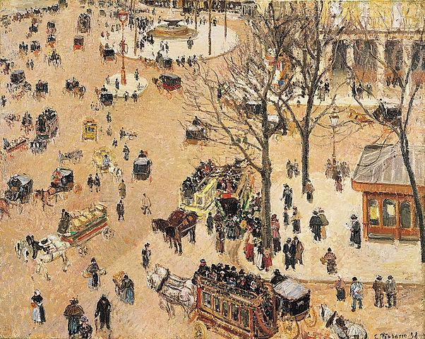 La Place du Théâtre Français (Camille Pissarro)