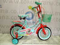 Sepeda Anak Perempuan United Pom Pom 12 Inci
