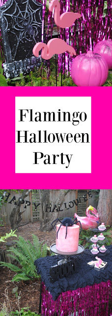 Get your flamingo Halloween party inspiration over at fizzyparty.com