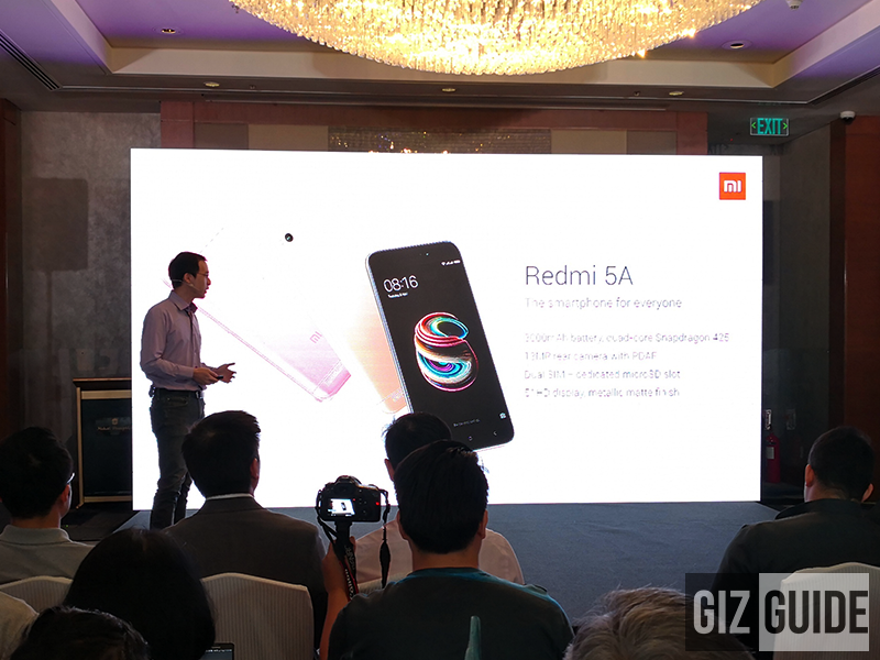 Xiaomi Redmi 5A goes official in PH, priced at PHP 4,590 only!