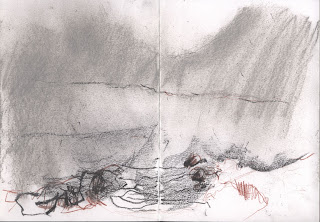 Drawing 3 from Snowdonia long drawing Jill Evans 2013