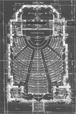 "Architect's plans for the ""Main Church Floor"". Image courtesy of the City of Winnipeg Historical Report."