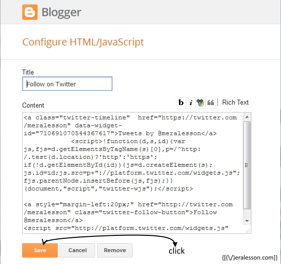 adding html to blogger