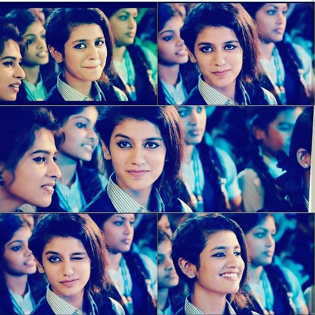 Priya Prakash Varrier cute  expressions
