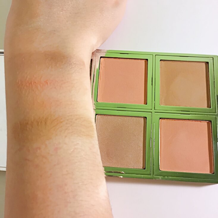 e.l.f. Beautifully Bare Natural Glow Face Palette in Fresh & Flawless swatch