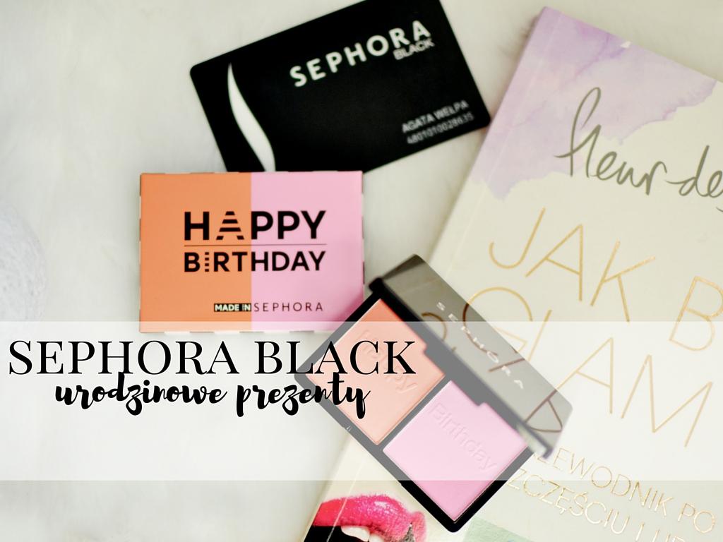 sephora prezent urodzinowy black card