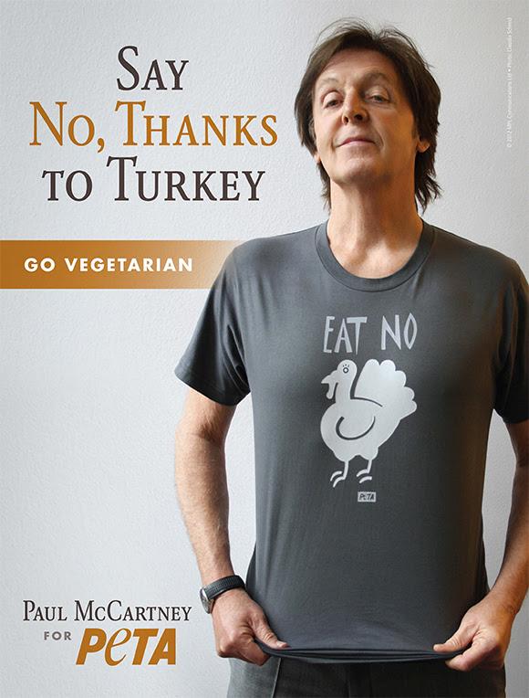 Paul McCartney et PETA : pas de dinde à la fête de Thanksgiving
